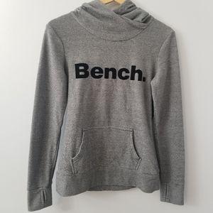 Bench Grey Black White Striped Hoodie Light Weight